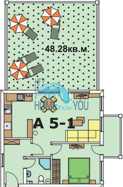 Двухкомнатная квартира с видом на море в городе Бяла - первая линия 15