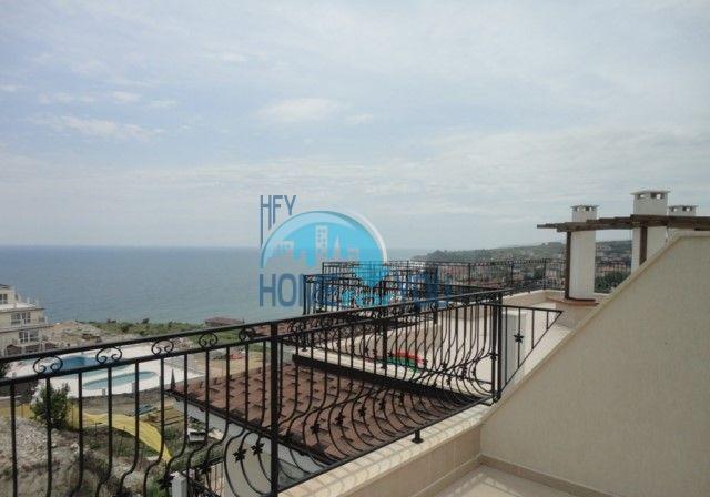 Двухкомнатная квартира с видом на море в курорте Бяла