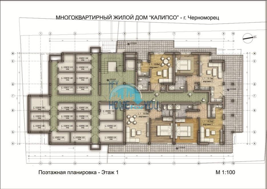 «Calypso/ Калипсо» - доступные цены на уютные апартаменты в уникальном и удобном комплексе, курорт Черноморец 21
