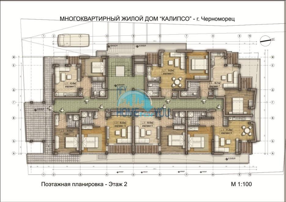 «Calypso/ Калипсо» - доступные цены на уютные апартаменты в уникальном и удобном комплексе, курорт Черноморец 22