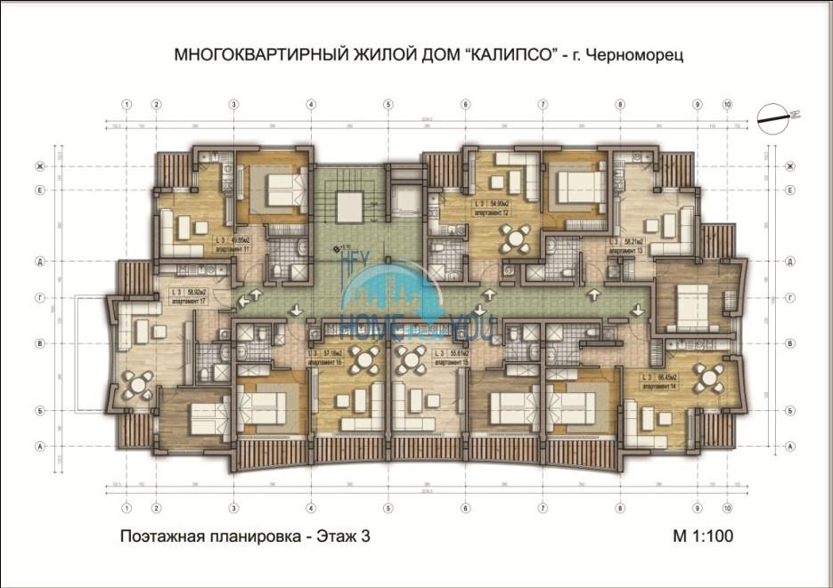 «Calypso/ Калипсо» - доступные цены на уютные апартаменты в уникальном и удобном комплексе, курорт Черноморец 23