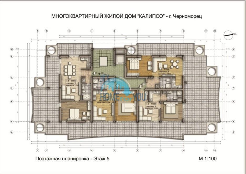 «Calypso/ Калипсо» - доступные цены на уютные апартаменты в уникальном и удобном комплексе, курорт Черноморец 25
