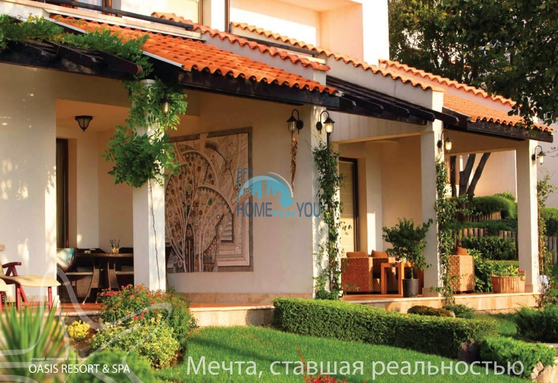 Уютная двухкомнатная квартира в респектабельном Оазис Резорт и Спа, Лозенец 32