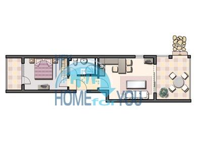 Двухкомнатная квартира в элитном комплексе Оазис в Лозенце 26