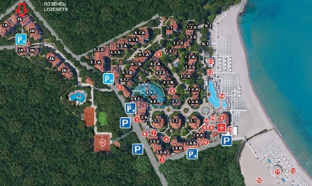 Светлая двухкомнатная квартира с прекрасным видом в роскошном комплексе Oasis Resort And Spa, Лозенец 28