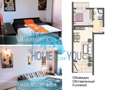 Меблированная квартира у моря в комплексе Оазис Резорт и Спа 3