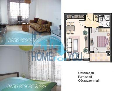 Меблированная квартира в комплексе Оазис, курорт Лозенец 37