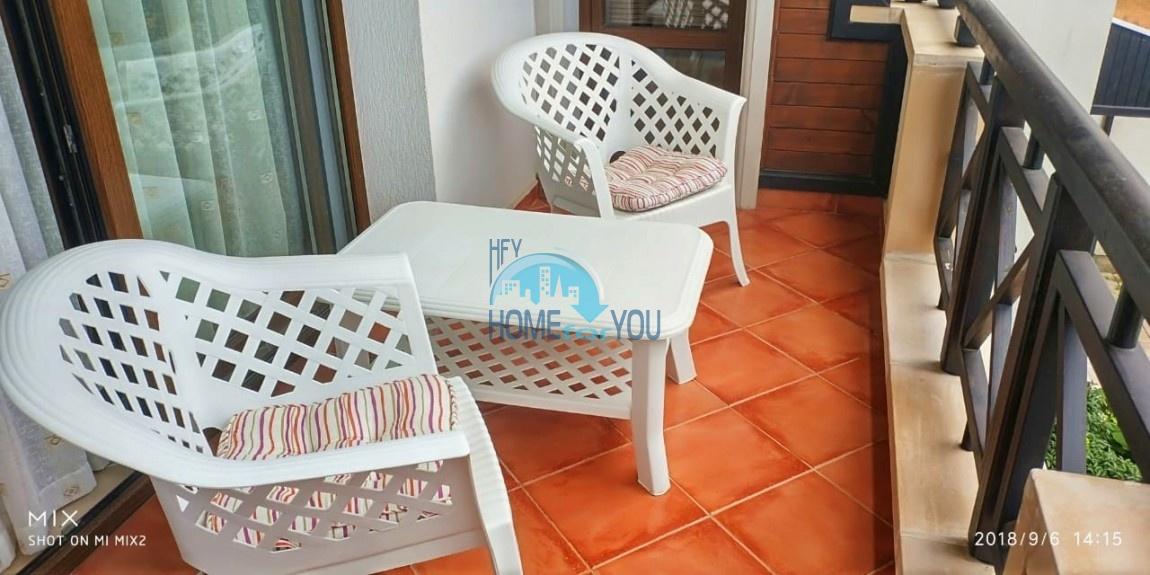 Прекрасная двухкомнатная квартира с видом на море и роскошные сады комплекса класса люкс Oasis Resort & Spa, Лозенец 22