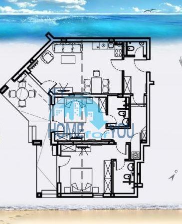 Роскошный трехкомнатный апартамент с выходом в сад с террасы в элитном Оазис Резорт и Спа, Лозенец 31