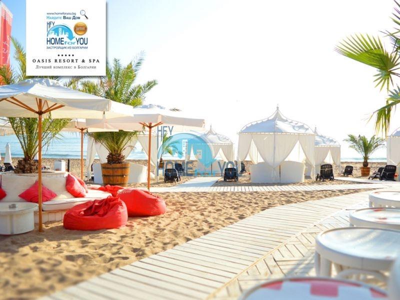 Двухкомнатный апартамент с высокими потолками и морской панорамой в элитном Оазис Резорт и Спа, Лозенец 14