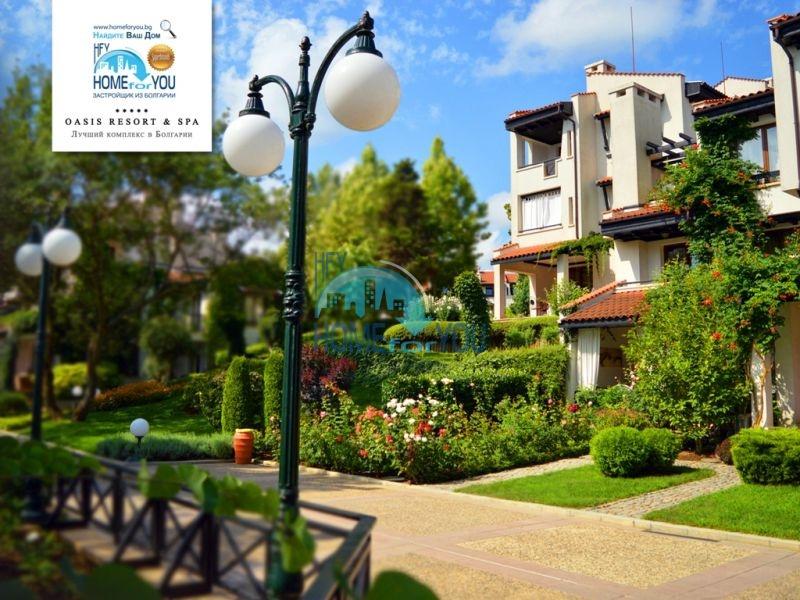 Двухкомнатный меблированный апартамент на первой линии моря в престижном комплексе Oasis Resort & Spa, Лозенец