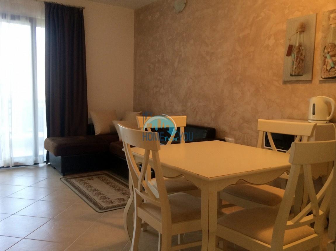 Меблированная светлая студия с частичным видом на море в элитном комплексе Oasis Resort & Spa, Лозенец 11