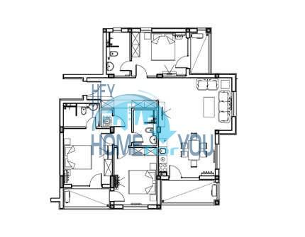 Просторная четырехкомнатная квартира в элитном комплексе в Лозенце 31