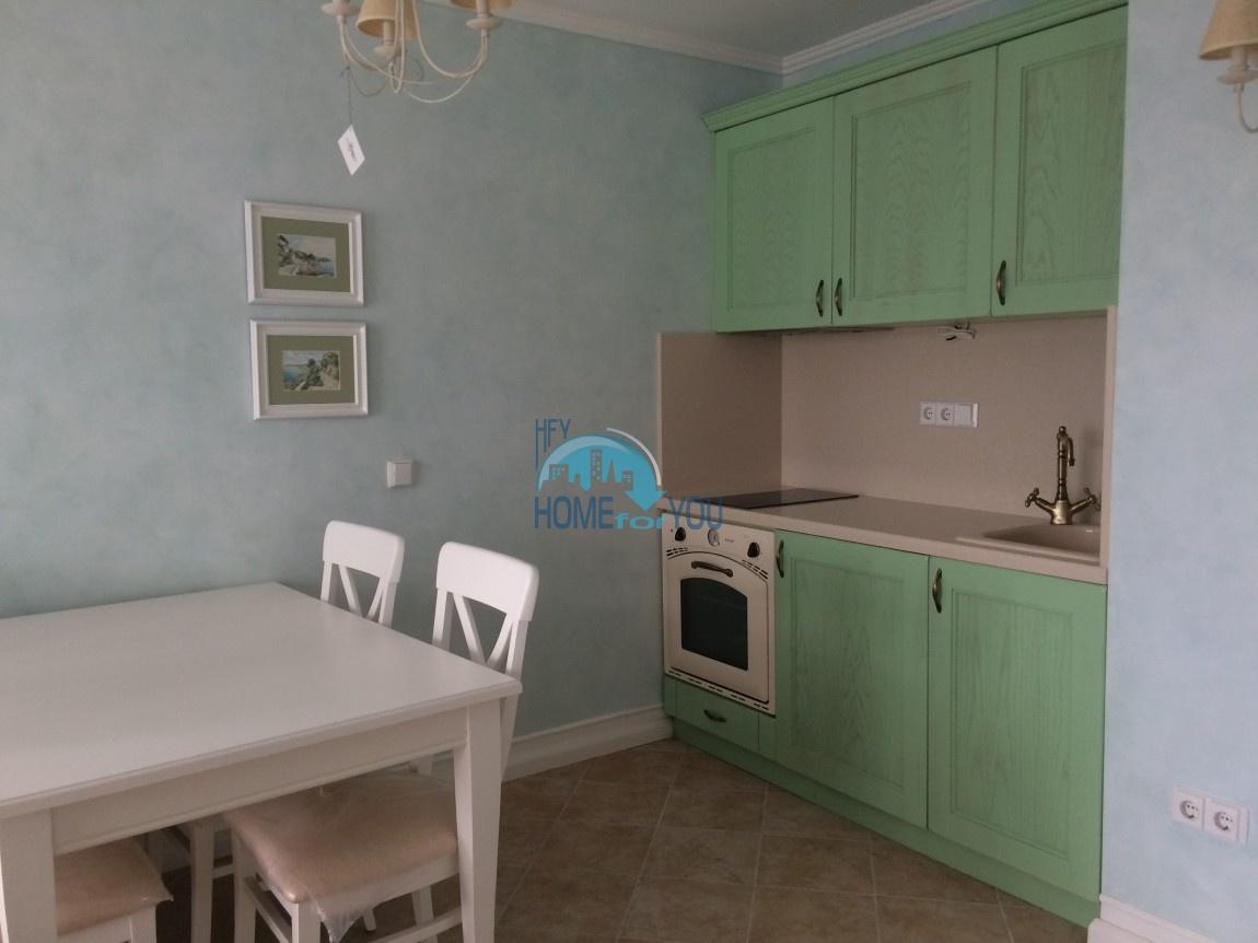 Меблированная трехкомнатная квартира на первой линии в Оазис Резорт & Спа, с.Лозенец 37