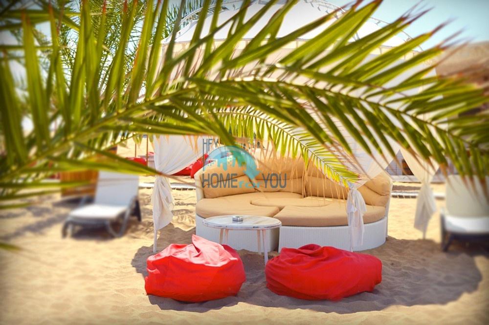 Шикарная трехкомнатная квартира в уникальном комплексе Oasis Resort & Spa на первой линии моря в п. Лозенец 13