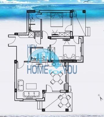 Трехкомнатная новая квартира у моря в курорте Лозенец 18