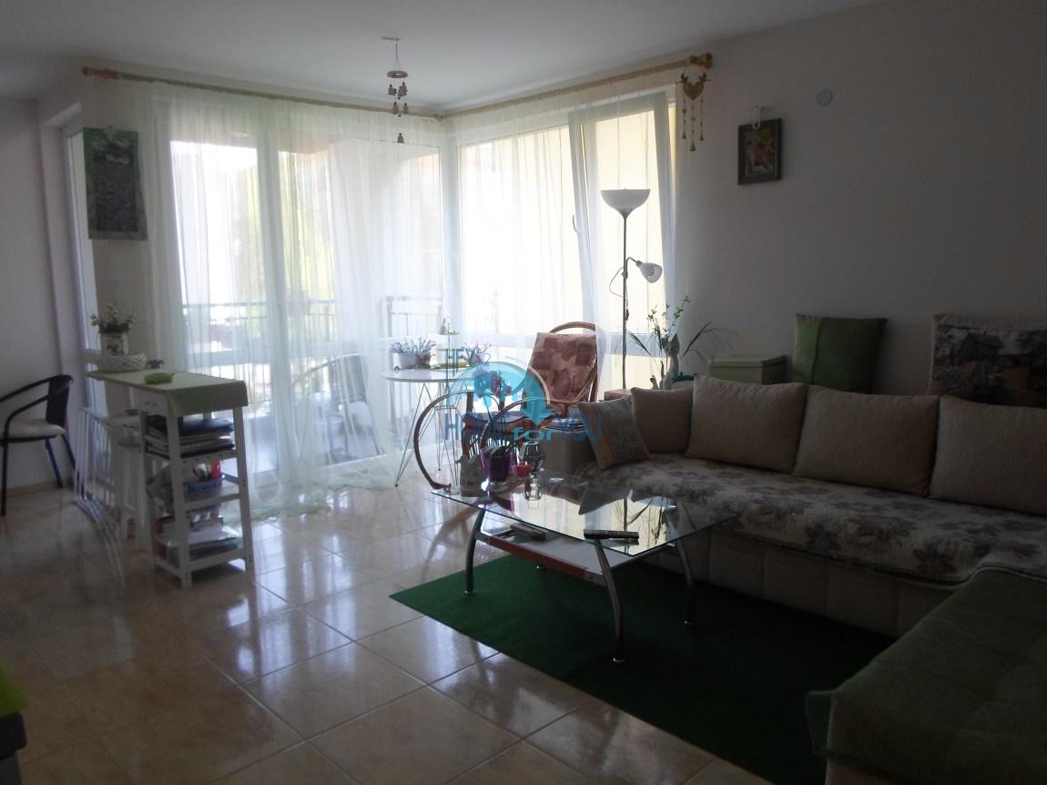 Низкая такса поддержки. Новая, уютная двухкомнатная квартира в комплексе Рай, Несебр.