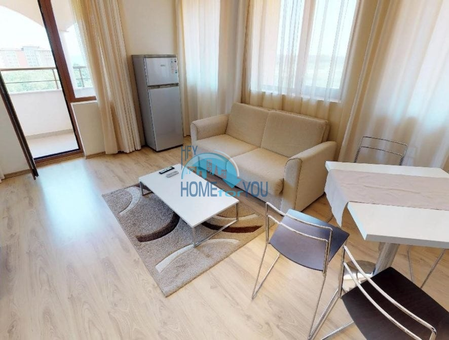 Светлая меблированная двухкомнатная квартира в фешенебельном комплексе Sunrise, привлекательный город Обзор