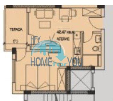 Двухкомнатная квартира на первой линии в Поморие 10