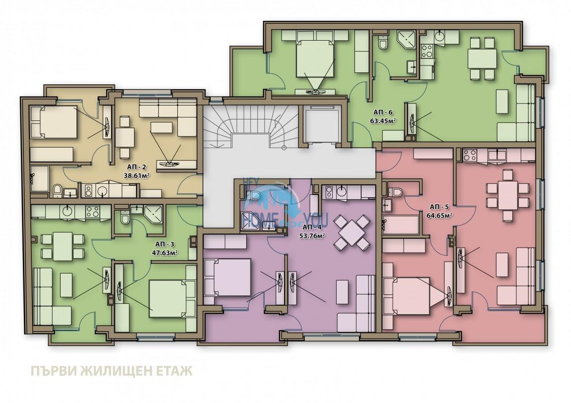 Готові квартири під ключ в центрі м. Поморіє - Аглая 6