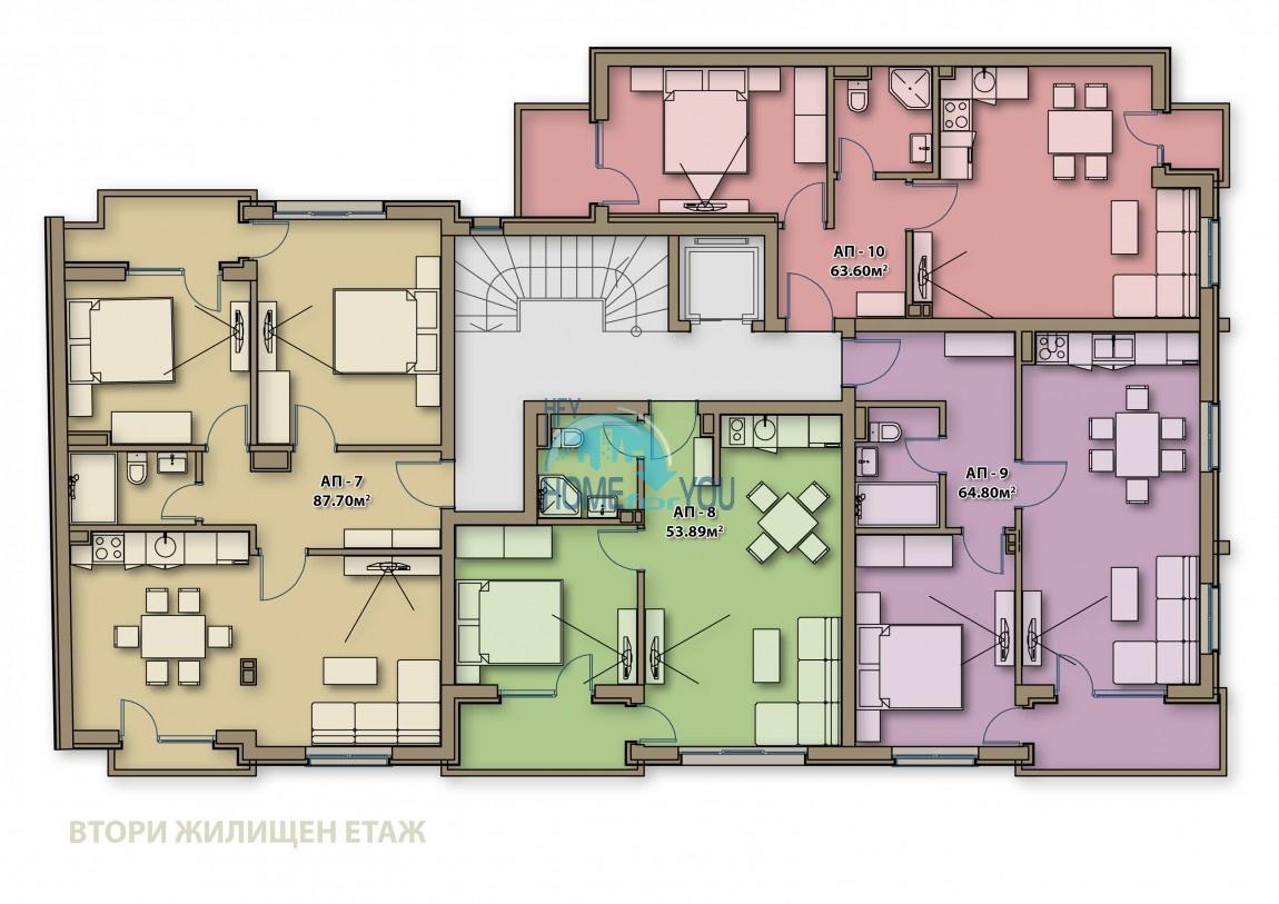 Готові квартири під ключ в центрі м. Поморіє - Аглая 7