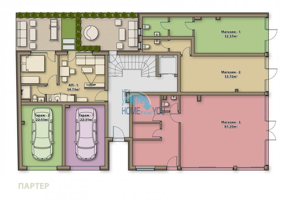 Готові квартири під ключ в центрі м. Поморіє - Аглая 5