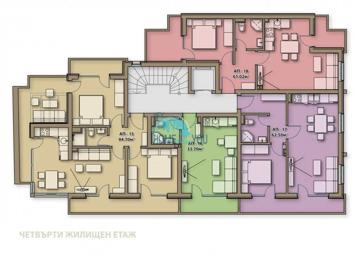 Готові квартири під ключ в центрі м. Поморіє - Аглая 9