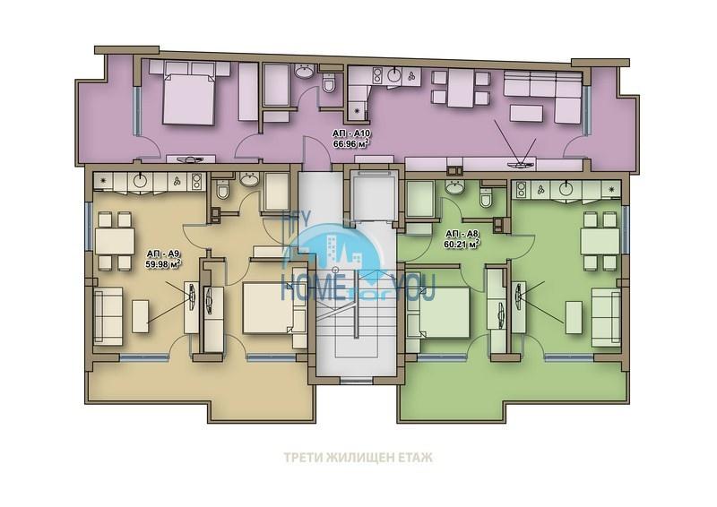 Новые качественные квартиры под ключ для ПМЖ в Поморие  11