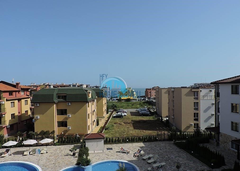 Чудесная двухкомнатная квартира с видом на море в комплексе Аполлон, Равда