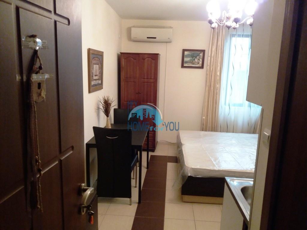 Студия с мебелью для ПМЖ без таксы поддержки в Равде