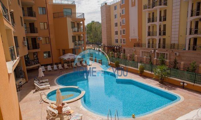 Большая двухкомнатная квартира в комплексе Амадеус 3 на Солнечном берегу