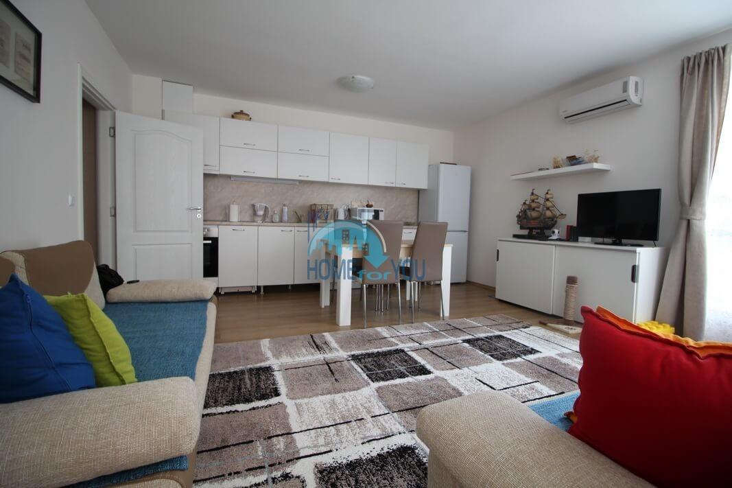 Чудесная, меблированная двухкомнатная квартира в комплексе Балкан Бриз, Солнечный берег