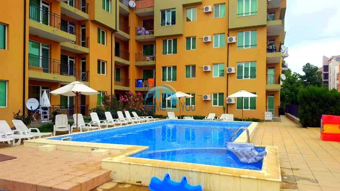 Двухкомнатная меблированная квартира в комплексе Гермес - самая низкая цена в курорте Солнечный берег! 23