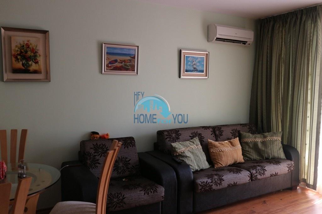 Меблированная двухкомнатная квартира в комплексе Адмирал Плаза, Солнечный берег