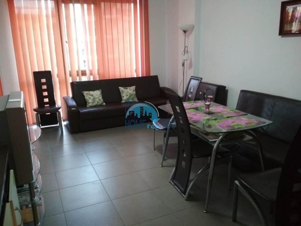 Меблированная, новая трехкомнатная квартира на Солнечном берегу