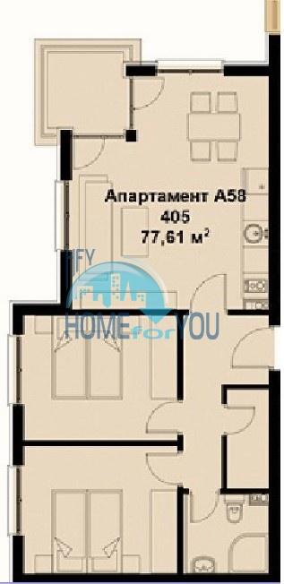 Новая трехкомнатная квартира на Солнечном берегу 20