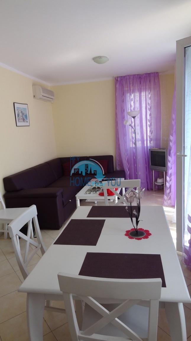 Новая двухкомнатная квартира в комплексе Бахами на Солнечном берегу