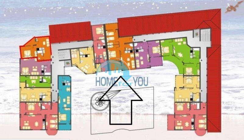 Отличная квартира с двумя спальнями в комплексе на Солнечном берегу 20
