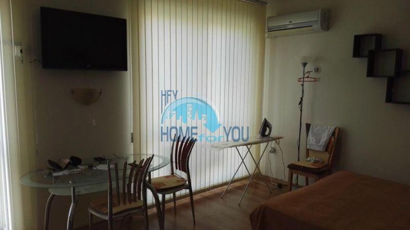 Просторная студия для отдыха и ПМЖ в центре курорта Солнечный берег