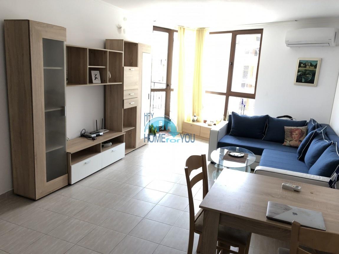 Чудесная, двухкомнатная квартира с видом на море в комплексе Калабрия, Святой Влас