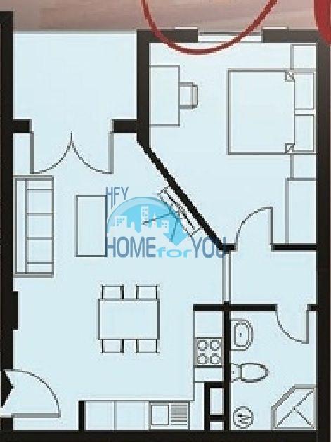 Элитная двухкомнатная квартира в комплексе Артур в Святом Власе 9