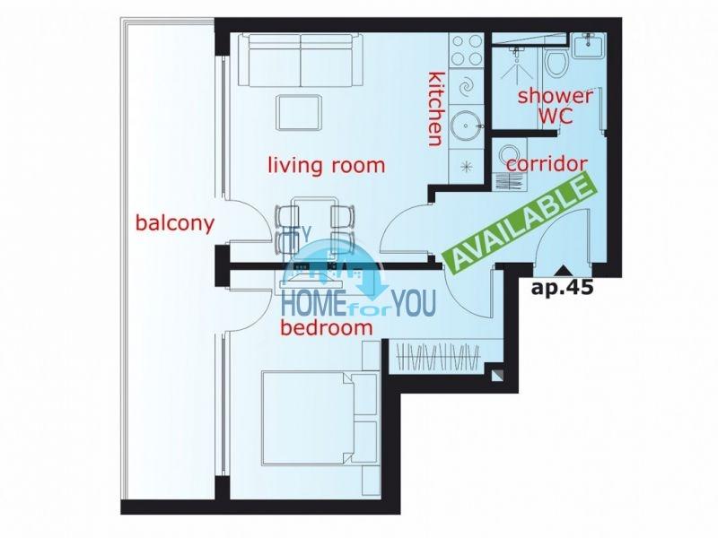 Новая качественная двухкомнатная квартира в Святом Власе 8