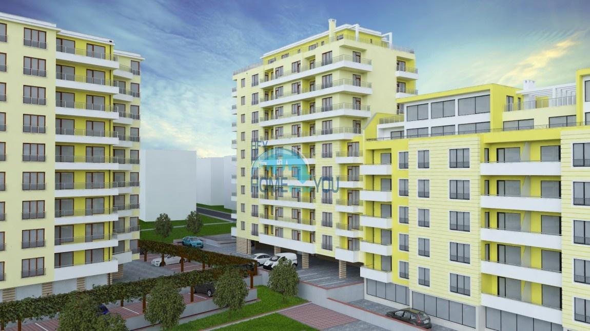 Уютные и комфортные апартаменты в центре города Варна, в новом жилом комплексе Фамилия