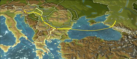 О строительстве газопровода «Южный поток»